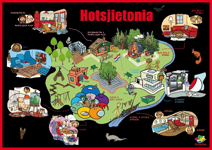 Kaart Hotsjietonia